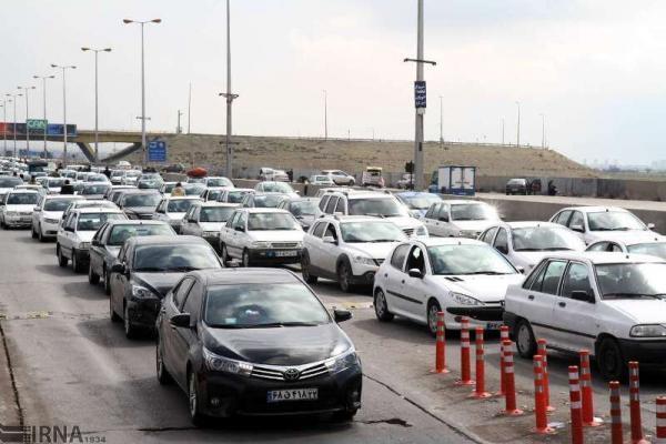 خبرنگاران ترافیک سنگین در جاده هراز