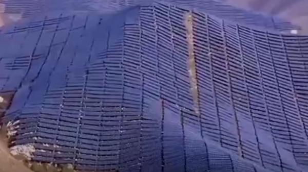 تصاویری از مزرعه خورشیدی تولید برق در چین