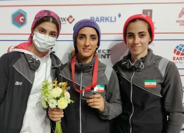 الناز رکابی به مدال برنز سنگنوردی قهرمانی دنیا دست یافت